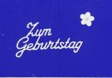 Sticker - Zum Geburtstag 1 - weiß - 401