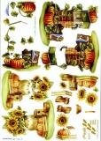 3D-Bogen Sonnenblume & Kürbis von Nouvelle (821517)