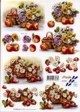 3D-Bogen Blumen & Apfel von Nouvelle (821592)