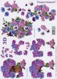 3D-Bogen Hortensien und Veilchen von LeSuh (416954)
