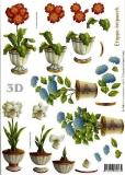 3D-Bogen Blumen im Topf von LeSuh (416919)