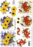 3D-Bogen Lilie & gelbe Blume von LeSuh (4169170)