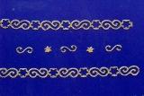 Sticker - Ränder Weihnachten 9 - gold - 985