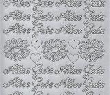 Sticker - Alles Gute - silber - 423