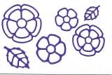 Sticker - Blumen 18 - violett - 1114