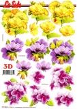 3D-Bogen Blumen von LeSuh (777.333)