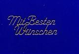 Sticker - Mit besten Wünschen - gold - 411