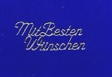 Sticker - Mit besten Wünschen - silber - 411