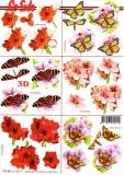 3D-Bogen Blumen & Schmetterling von LeSuh (777.441)