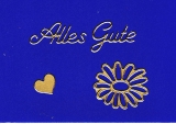 Sticker -Alles Gute  - gold - 423
