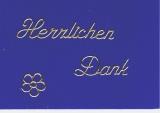 Sticker - Herzlichen Dank - gold - 407