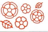 Sticker - Blumen 18 - orange - 1114