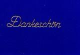 Sticker - Dankeschön - gold - 408