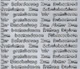 Sticker - Glückwünsche zu verschiedenen Anlässen - silber - 446