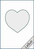 Passepartoutkarten-Set A6 weiß-Herz von LeSuh (411401)
