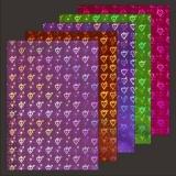 10x Hologramm-Karton Hearts & Lights 2von LeSuh (418839)