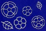 Sticker - Blumen 18 - silber - 1114
