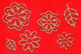 Sticker - Blumen 19 - gold - 1113