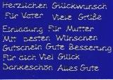 Sticker - Diverse Glückwünsche - silber - 441