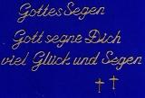 Sticker - Gottes Segen - gold - 482