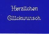 Sticker - Herzlichen Glückwunsch - silber - 432