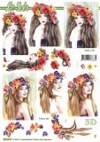 3D-Bogen Blumenmädchen von Nouvelle (8215717)