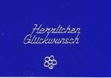 Sticker - Herzlichen Glückwunsch - silber - 429