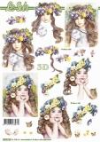 3D-Bogen Blumenmädchen von Nouvelle (8215719)