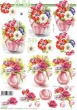 3D-Bogen Vase mit Anemonen von Nouvelle (8215764)