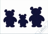 Passepartoutkarten-Set A6 weiß-drei Bären von LeSuh (411702)