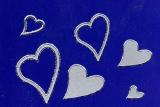 Sticker - Herzen - silber - 120