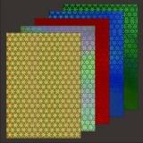 10x Hologrammkarton Starflower von LeSuh (418806)