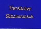 Sticker - Herzlichen Glückwunsch - gold - 432
