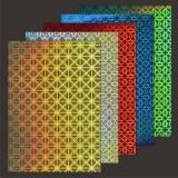 10x Hologramm-Karton Square World von LeSuh (418877)