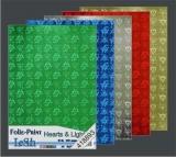 10x Hologramm-Karton Hearts & Lights von LeSuh (418893)