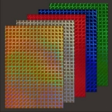 10x Hologramm-Karton Waveline von LeSuh (428801)