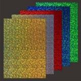 10x Hologramm-Karton Sparkle von LeSuh (418873)