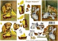 3D-Bogen Hund & Hase von LeSuh (4169265)