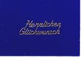 Sticker - Herzlichen Glückwunsch - gold - 429