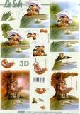 3D-Bogen Liebe Enten von LeSuh (4169723)
