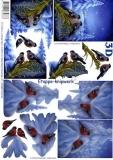 3D-Bogen Vögel im Schnee von LeSuh (4169513)
