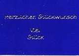 Sticker - Herzlichen Glückwunsch/Viel Glück - silber - 440