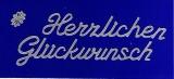 Sticker - Herzlichen Glückwunsch 7 - silber - 492