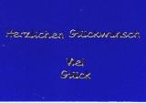Sticker - Herzlichen Glückwunsch/Viel Glück - gold - 440