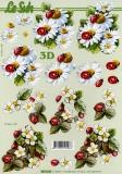 3D-Bogen Blumen & Käfer von Nouvelle (8215238)