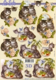 3D-Bogen Neugierige Kätzchen von Nouvelle (8215274)
