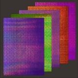 10x Hologramm-Karton Color Swatch 2von LeSuh (418858)