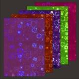 10x Hologramm-Karton Fireworks 2von LeSuh (418840)