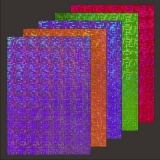 10x Hologramm-Karton Weave 2 von LeSuh (418824)