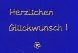 Sticker - Herzlichen Glückwunsch - gold - 4403